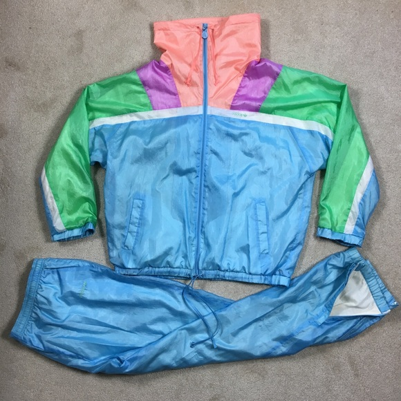 save off fb6eb 85c87 adidas Other - Vtg 80 90s Adidas tracksuit iridescent Colorblock